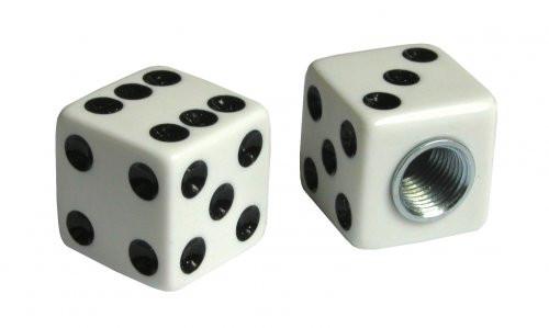 Kennzeichenschrauben Set, 2teilig, Würfel, weiß