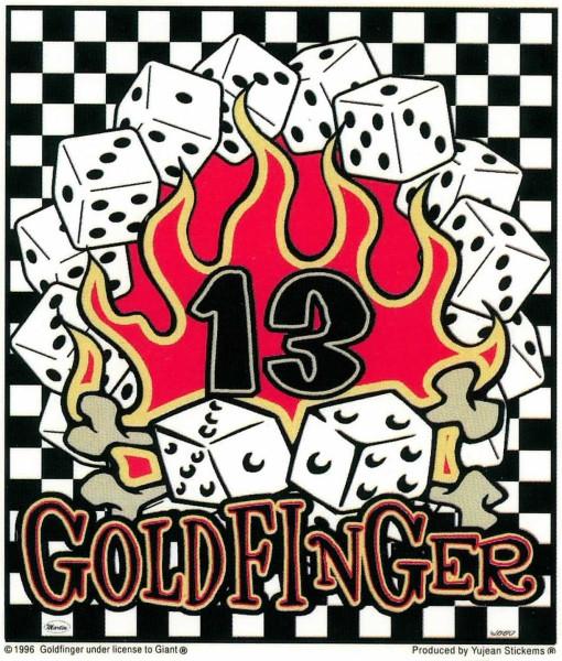 Aufkleber Goldfinger