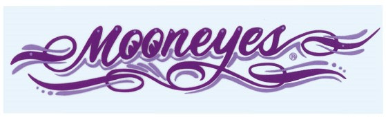Mooneyes Pinstripe Aufkleber, lila