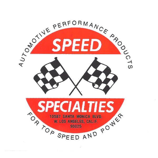 Aufkleber Speed Specialities