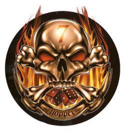 Aufkleber Lucky 7 Skull Choppers
