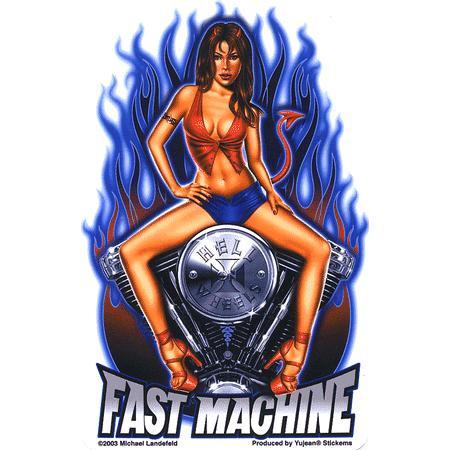 Aufkleber Fast Machine, Michael Landefeld