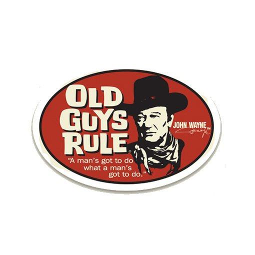 Aufkleber OGR John Wayne, A man´s got to do