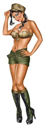 Aufkleber Army Girl, Michael Landefeld