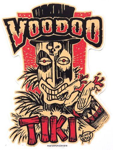 Aufkleber Voodoo Tiki, Vince Ray