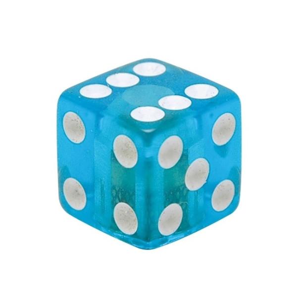 Kennzeichenschrauben Set, 2teilig, Würfel, blau klar