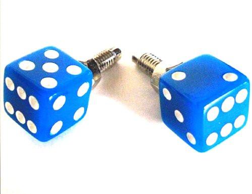 Kennzeichenschrauben Set, 2teilig, Würfel, blau