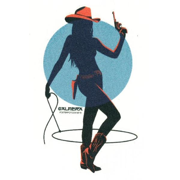 Aufkleber Cowgirl Rope, Almera