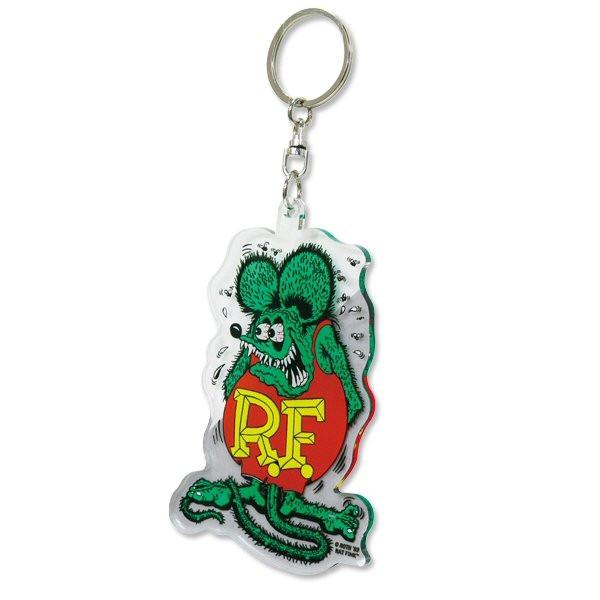 Rat Fink Schlüsselanhänger, grün/klar