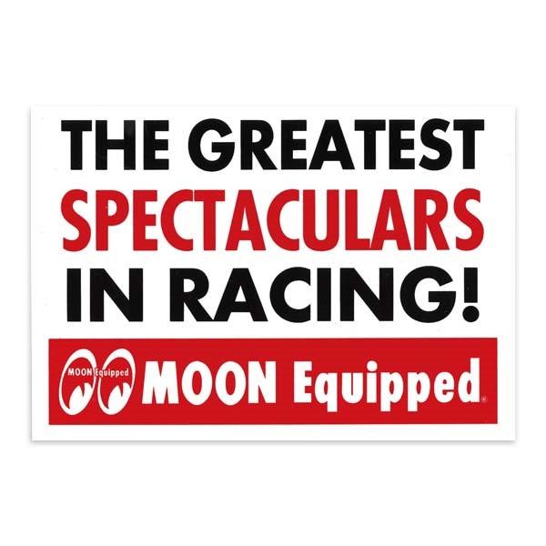 "Mooneyes Aufkleber ""The Greatest Spectaculars in Racing!"""