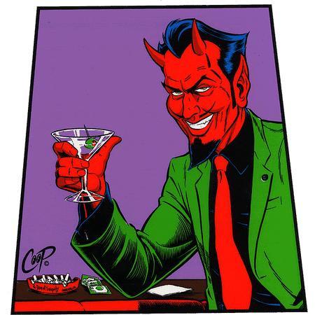 Aufkleber Martini Devil, Coop
