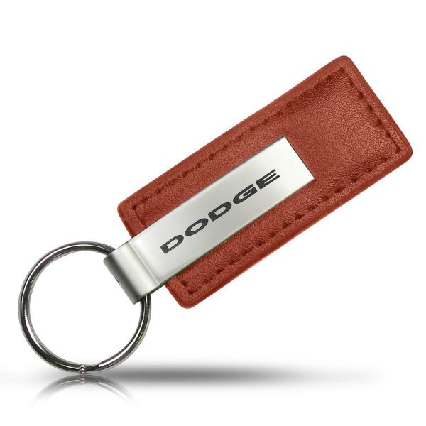 Schlüsselanhänger Dodge, Leder, braun