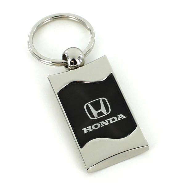 Schlüsselanhänger Honda, Metall, schwarz/silber