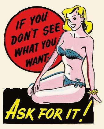 "Wasserschiebebild ""Ask for it"""