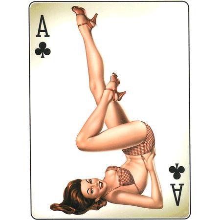 Aufkleber Ace of Clubs, Poker