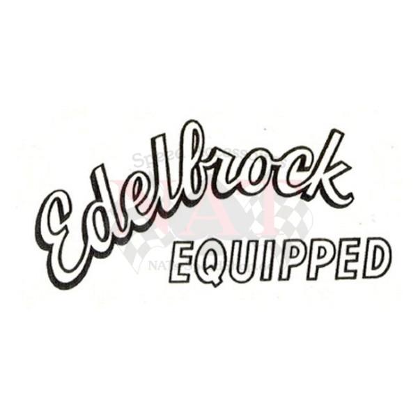 Aufkleber Edelbrock Equipped