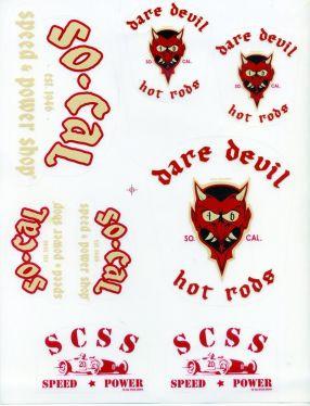 So-Cal Dare Devil, Aufkleberset 8-teilig