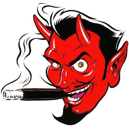 Aufkleber Devil Head, Coop, LH klein