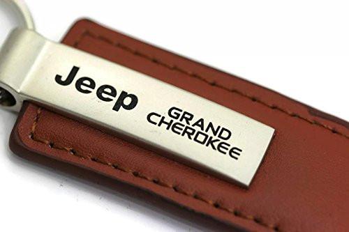 Schlüsselanhänger Jeep Grand Cherokee, Leder, braun