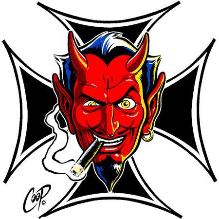 Aufkleber Iron Cross Devil, Coop