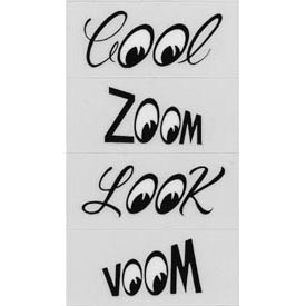 Mooneyes Aufkleber Set, Zoom Cool Voom Look