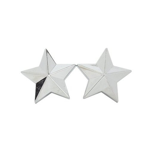 Kennzeichenschrauben Set, 2teilig, Stern, chrom