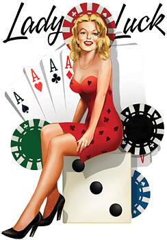 Aufkleber Lady Luck