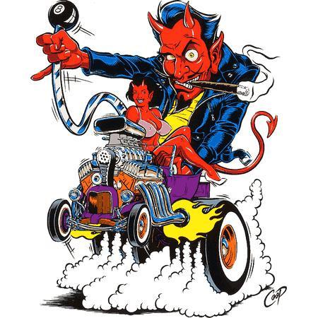 Aufkleber Hot Rod Devil, Coop