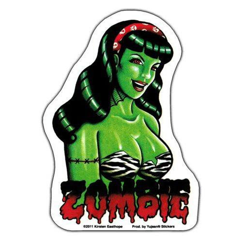 Aufkleber Zombie, Kirsten Easthope