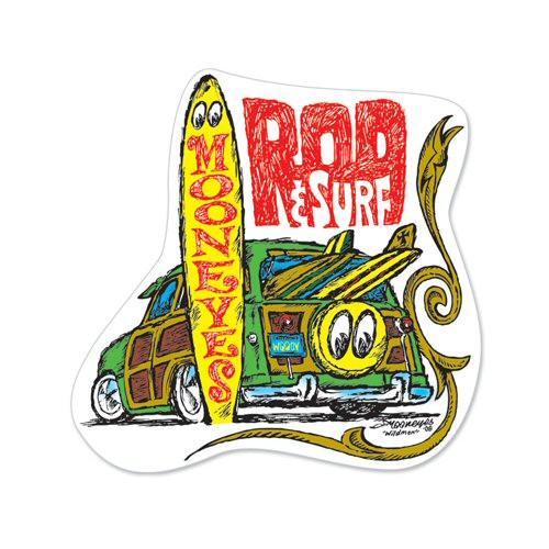 Rod & Surf Woodie Sticker