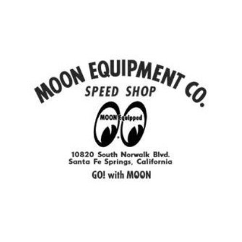 MOON Equipment Co. Speed Shop Aufkleber, schwarz
