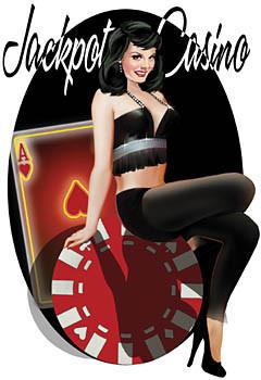 Aufkleber Jackpot Casino