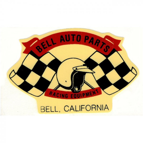 Aufkleber Bell Auto Parts, Checkered Flag