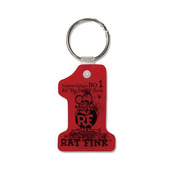Rat Fink Schlüsselanhänger, rot