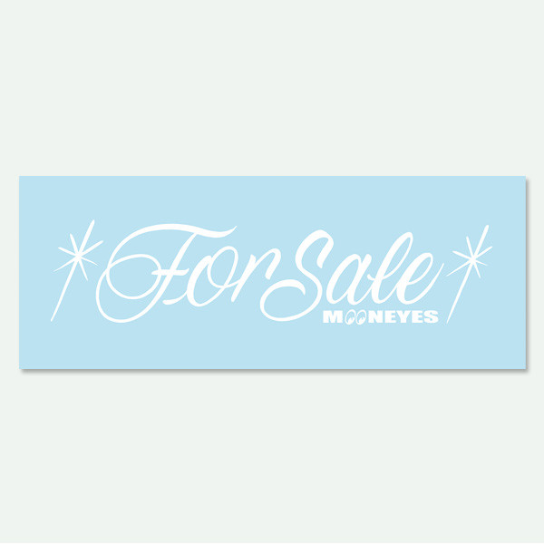 Mooneyes For Sale Schriftzug, freigestellt