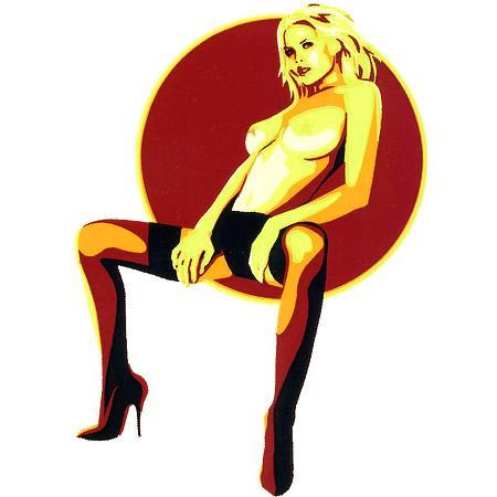 Aufkleber Seated Babe, Almera