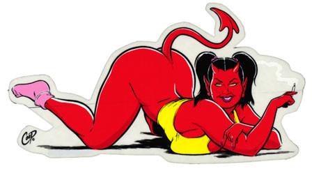 Aufkleber Devil Kitten, Coop