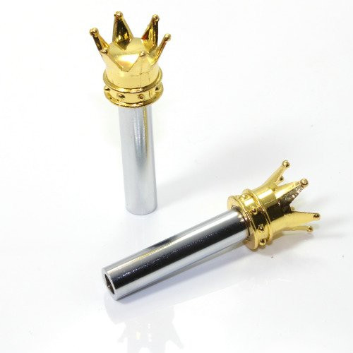 Türknopf Set, 2 Stk, Krone, gold