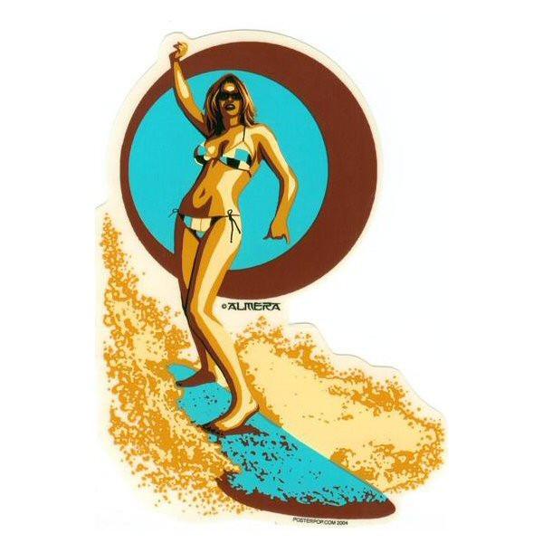 Aufkleber Surfer Girl, Almera
