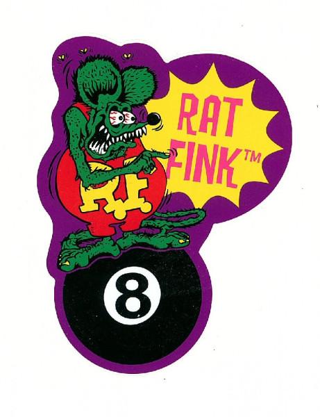 Rat Fink Eight Ball Aufkleber