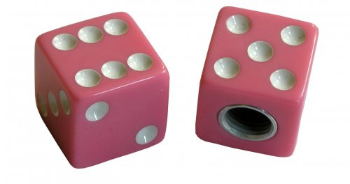 Kennzeichenschrauben Set, 2teilig, Würfel, pink