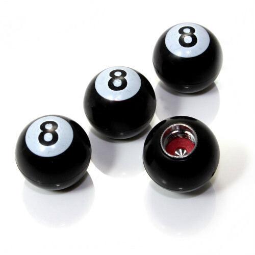 Ventilkappen Schwarze 8, Kunststoff, 4er Satz