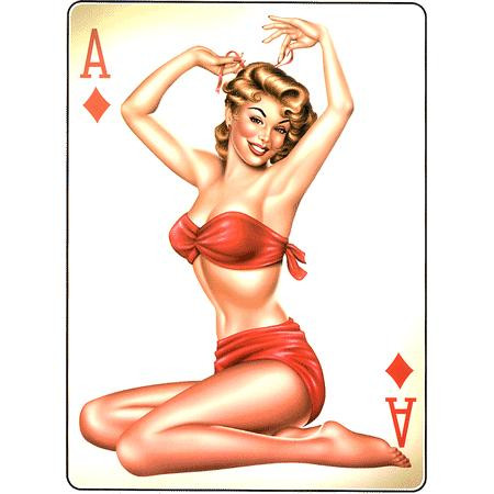 Aufkleber Ace of Diamonds, Poker