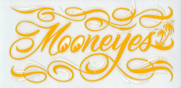 MOON Pinstripe Sticker, yellow