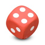"Antennenball ""Red Dice"""