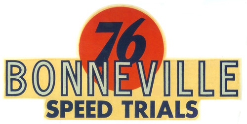 Wasserschiebebild Bonneville 76