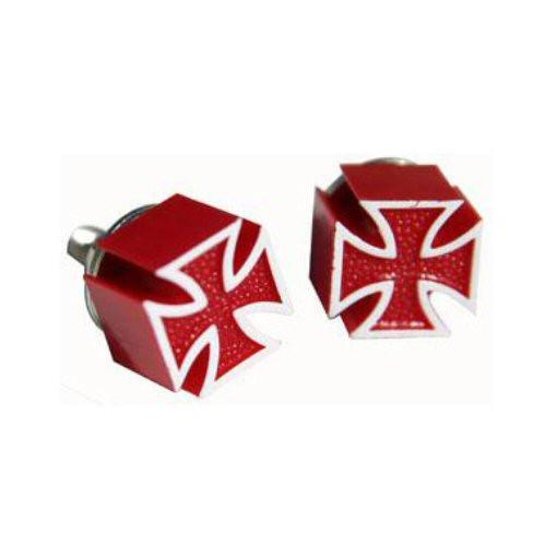 Mooneyes Kennzeichenschraube rot, Iron Cross