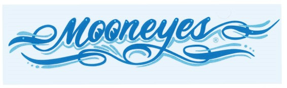 Mooneyes Pinstripe Aufkleber, blau