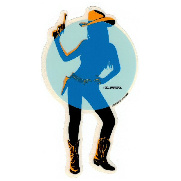 Aufkleber Cowgirl, Almera