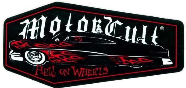 Aufkleber MotorCult, Coffin, Hell on Wheels